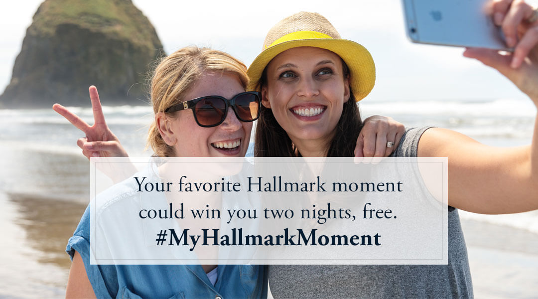 Your favorite Hallmark moment could win you two nights, free.#MyHallmarkMoment